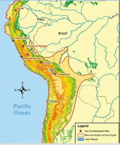 Згідно останніх досліджень імперія інків Тавантінсуйу займала значно більшу територію, ніж вважалося раніше.