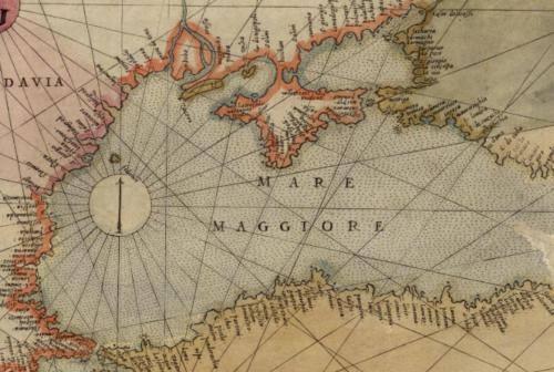 Портулан Паоло Форлані. Чорне море (1569).