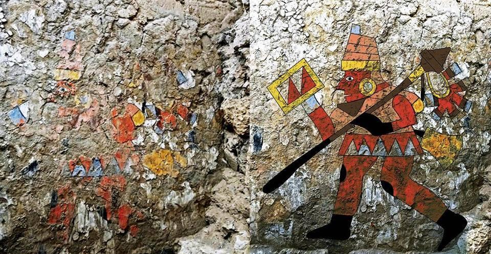 Воїн. Фреска культури Моче, Перу, 600 рр. н.е.