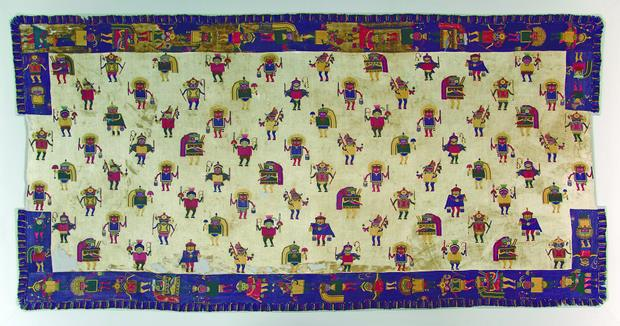 Біла ковдра. Доколумбова культура Паракас, Перу (1-3 ст. н.е.)